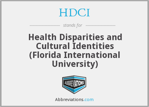 HDCI - Health Disparities and Cultural Identities (Florida International University)