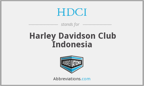 HDCI - Harley Davidson Club Indonesia