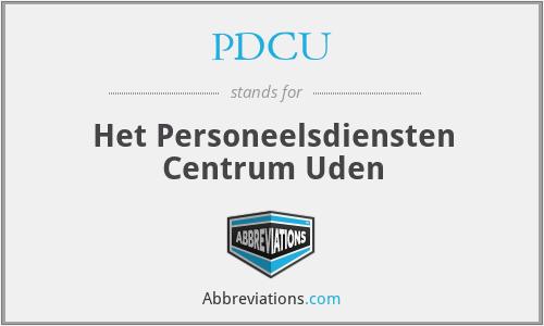 PDCU - Het Personeelsdiensten Centrum Uden