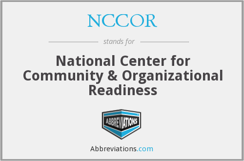 What does NCCOR stand for?