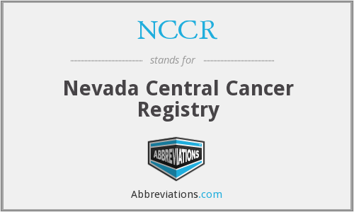 NCCR - Nevada Central Cancer Registry