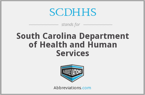 What does SCDHHS stand for?