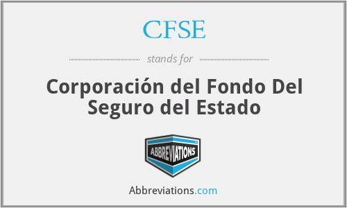 CFSE - Corporación del Fondo Del Seguro del Estado