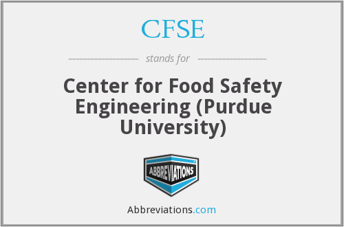 CFSE - Center for Food Safety Engineering (Purdue University)
