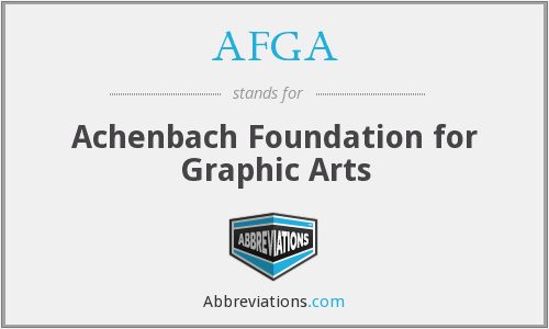 AFGA - Achenbach Foundation for Graphic Arts