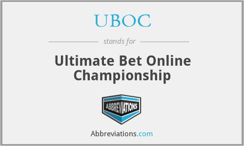 UBOC - Ultimate Bet Online Championship