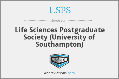 LSPS - Life Sciences Postgraduate Society (University of Southampton)