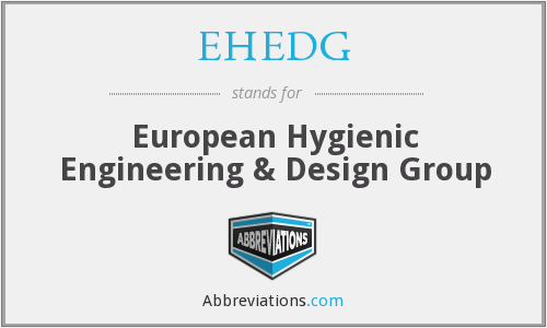 What does EHEDG stand for?