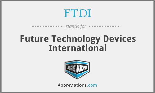 FTDI - Future Technology Devices International