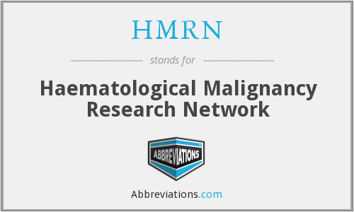 HMRN - Haematological Malignancy Research Network