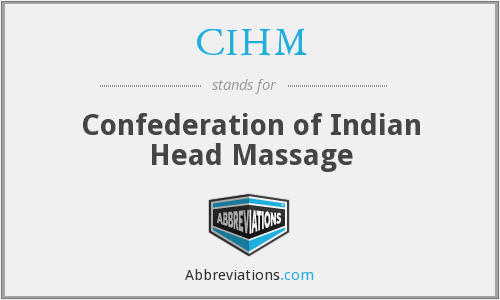 CIHM - Confederation of Indian Head Massage