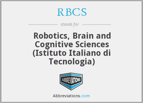 RBCS - Robotics, Brain and Cognitive Sciences (Istituto Italiano di Tecnologia)