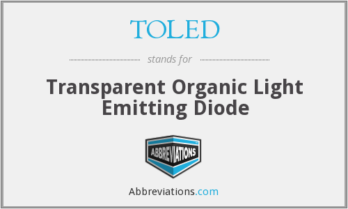 TOLED - Transparent Organic Light Emitting Diode