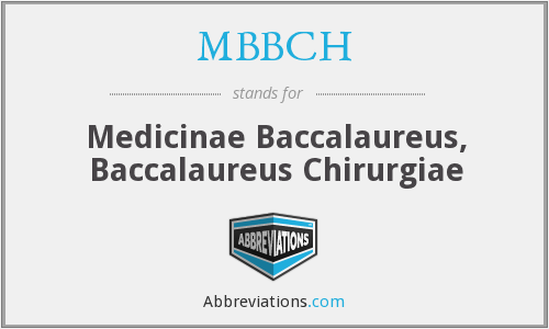 What does MBBCH stand for?