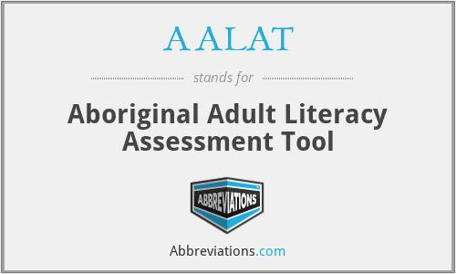 AALAT - Aboriginal Adult Literacy Assessment Tool