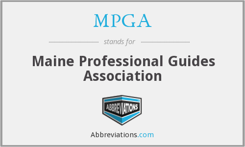 MPGA - Maine Professional Guides Association