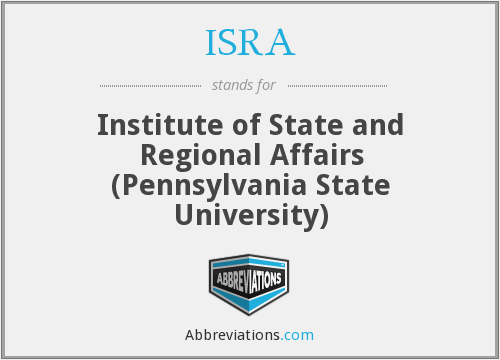 ISRA - Institute of State and Regional Affairs (Pennsylvania State University)