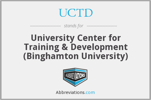 UCTD - University Center for Training & Development (Binghamton University)
