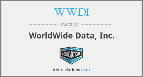 What does WWDI stand for?