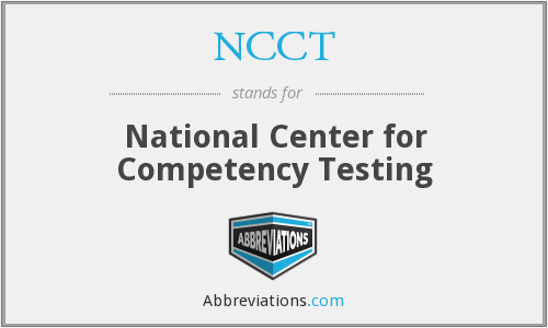 What does NCCT stand for?