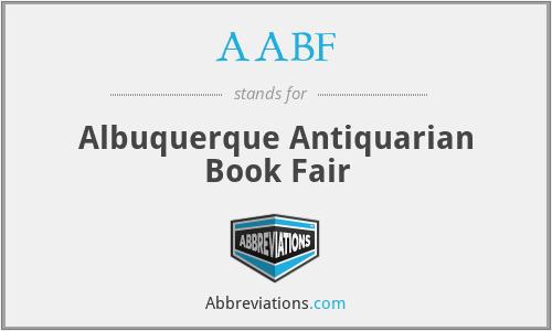 AABF - Albuquerque Antiquarian Book Fair