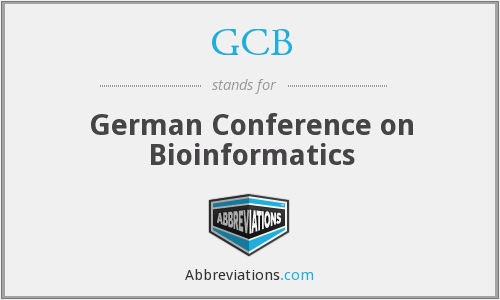 GCB - German Conference on Bioinformatics