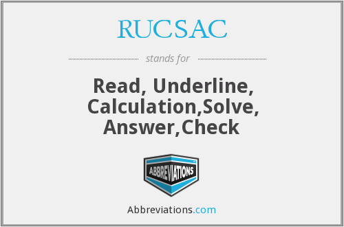 What does RUCSAC stand for?