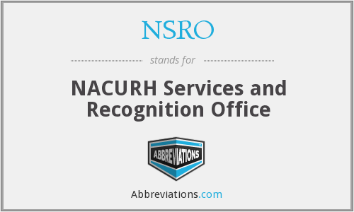 What does NSRO stand for?