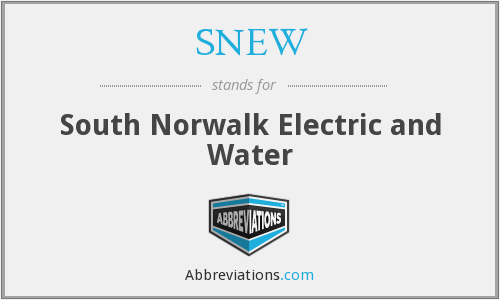 SNEW - South Norwalk Electric and Water