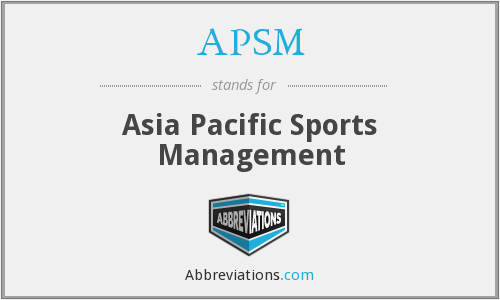 APSM - Asia Pacific Sports Management