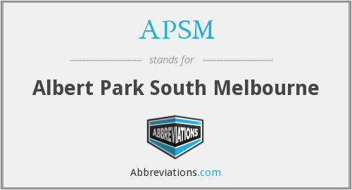 APSM - Albert Park South Melbourne