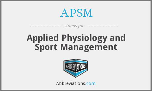 APSM - Applied Physiology and Sport Management