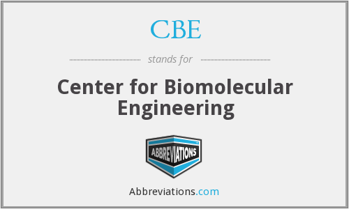 CBE - Center for Biomolecular Engineering