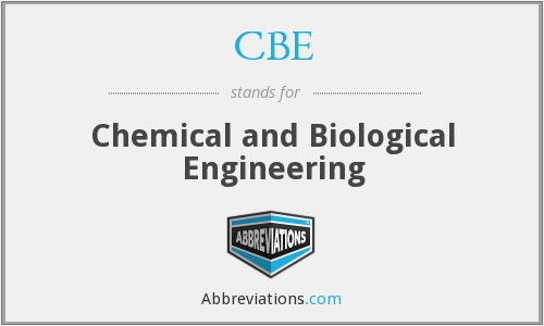 CBE - Chemical and Biological Engineering