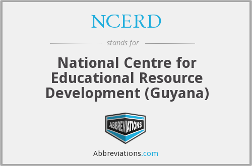 NCERD - National Centre for Educational Resource Development (Guyana)
