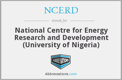 NCERD - National Centre for Energy Research and Development (University of Nigeria)