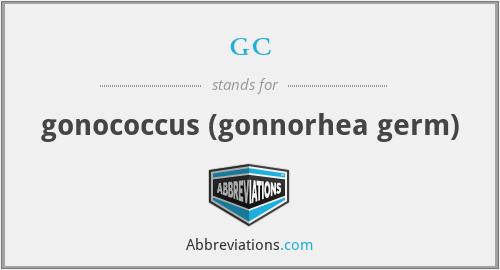 gc - gonococcus (gonnorhea germ)