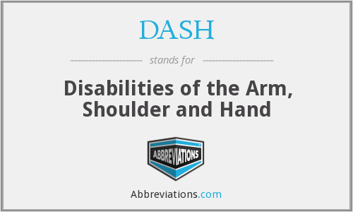 DASH - Disabilities of the Arm, Shoulder and Hand