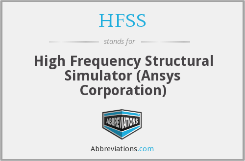 HFSS - High Frequency Structural Simulator (Ansys Corporation)
