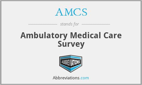 AMCS - Ambulatory Medical Care Survey
