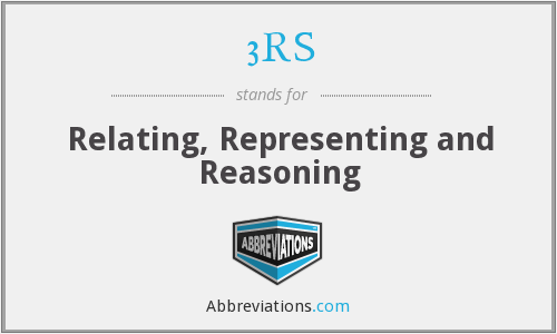 3RS - Relating, Representing and Reasoning