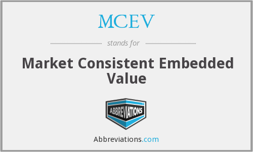 What does MCEV stand for?