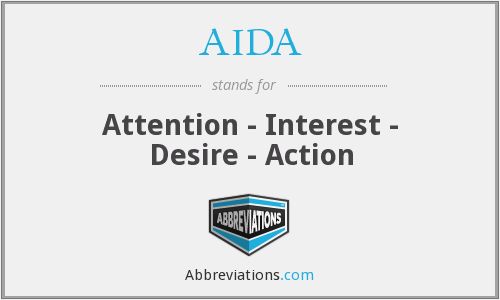 AIDA - Attention - Interest - Desire - Action