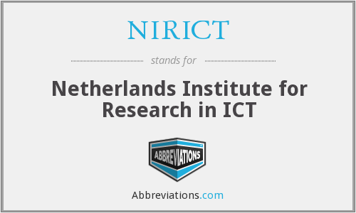 What does NIRICT stand for?