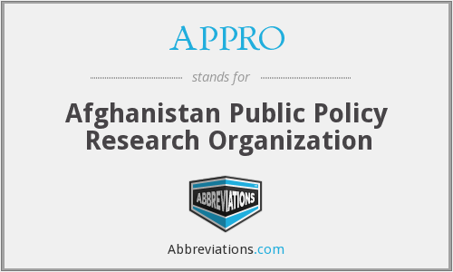 APPRO - Afghanistan Public Policy Research Organization