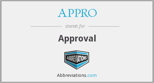What does APPRO stand for?