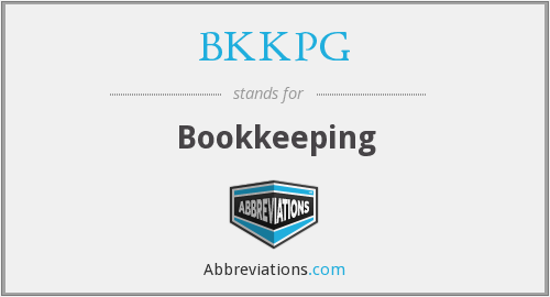 BKKPG - Bookkeeping