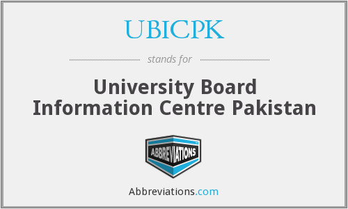What does UBICPK stand for?