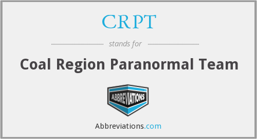 CRPT - Coal Region Paranormal Team