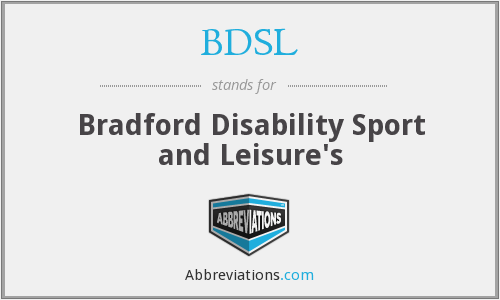 BDSL - Bradford Disability Sport and Leisure's